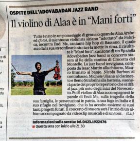 adovabadan feat endi alaa mani forti TRIBUNA 18marzo16 articolo di Lieta Zanatta